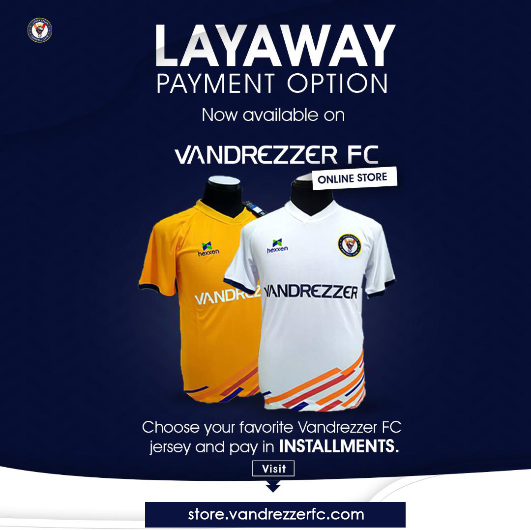 Layaway Payment Option now available on  Vandrezzer FC Online Store