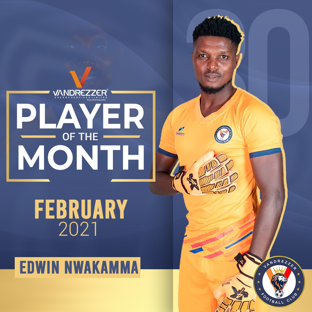 NWAKAMMA WINS VFC PLAYER OF THE MONTH